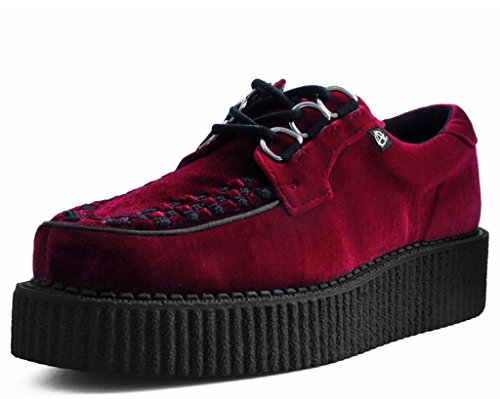 Anarchique Creeper k Féminin u Rouge Bague De Shoes 3 Velours Bourgogne T tqfBw17