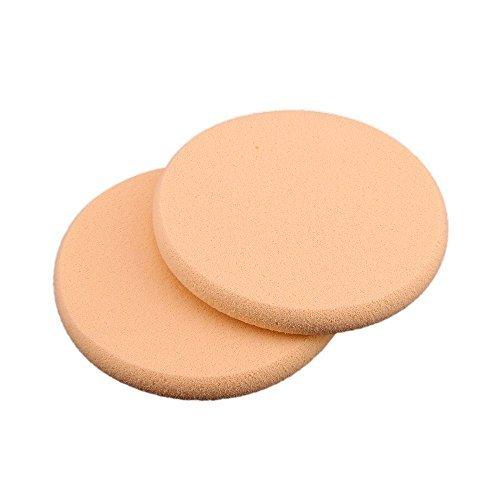 TOOGOO(R) 2 x Powder Puff Makeup Sponge Face Sponge Cosmetic Round
