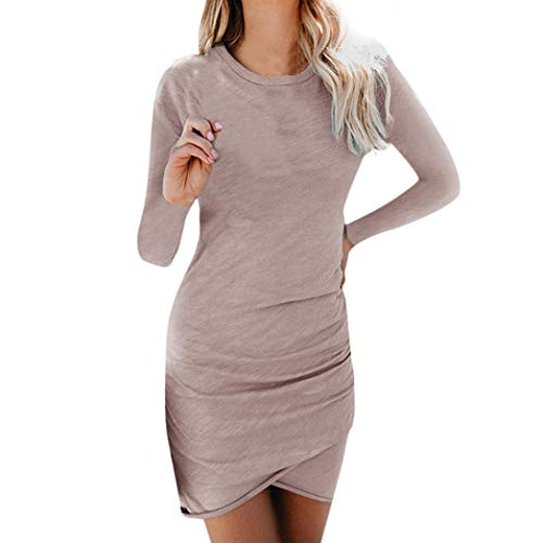 Vestido lápiz para Trabajo Manga Absolute Bodycon Larga Mini Diario Club Caqui Casual Mujer Vestido ❤️ Party de Casual de rB1qwHra6