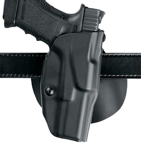 Safariland 6378 ALS, Paddle & Belt Slide Holster, Glock 20, 21, Plain Black, Right Hand