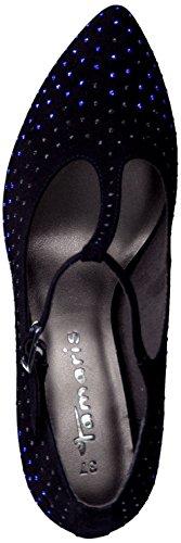 Tamaris Zapato con cierre Bombas Negro con lentejuelas de tacón alto tacón de aguja 1-24401-23 001 negro Black