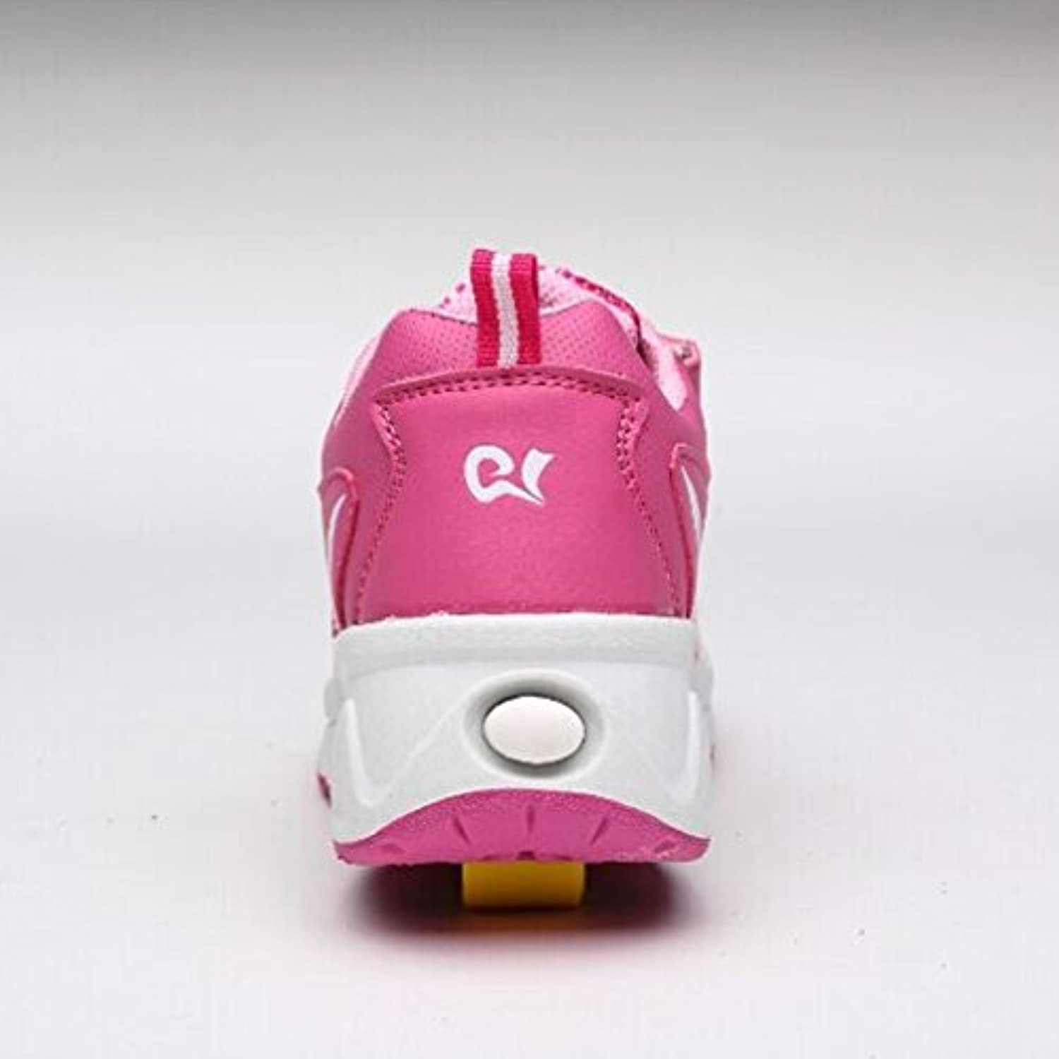 Roller skate trainers / sneakers with automatic wheels - Pink - UK 1 - EU 33