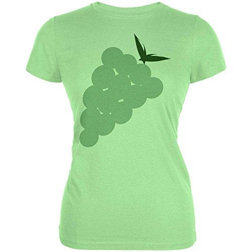 Halloween Green Grape Costume Juniors Soft T Shirt Mint -
