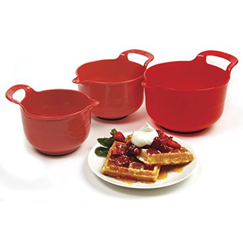 (Norpro Mixing Bowls, Red, Set of 3)