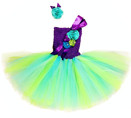 Tutu Dreams Mermaid Costume For Girl With Flower Headband (Mermaid Tutus)