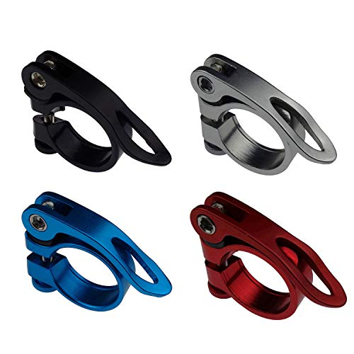 Kasteco 4 Pack 31.8MM Aluminium Alloy Cycling Bike Bicycle Quick Release Seatpost Clamp, 4 Colors by Kasteco