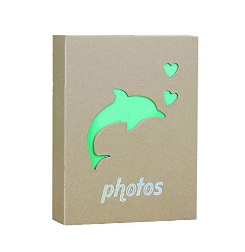 Wei Long Beautiful Photo Album Hold 200 Pockets, 3.5