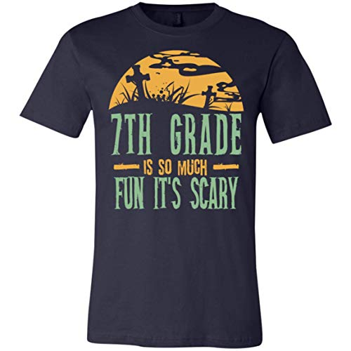7th Grade is so Much Fun It's Scary - Halloween - Canvas Unisex Jersey T-Shirt