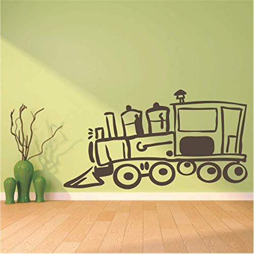 Iupoax Removable Vinyl Mural Decal Quotes Art Train Engine Graphic for Nursery Kids Room Living Room Bedroom ()