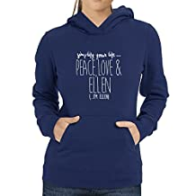 Eddany Simplify your life peace love and Ellen Women's Hoodie