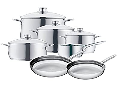Cromargan Stainless Steel Cookware Set 11-Piece Diadem, Silver WMF TC-00501A