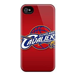 Scratch Resistant Hard Phone Case For Iphone 4/4s (qrw19027dbMh) Allow Personal Design Attractive Cleveland Cavaliers Series