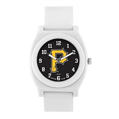 Pittsburgh Pirates Game Time Fan White Wrist Watch P Logo ()