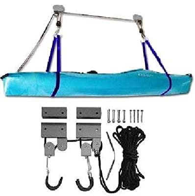 fs-1501-canoe ProSource 125lb Heavy Duty Garage Utility Canoe and Kayak Storage Lift