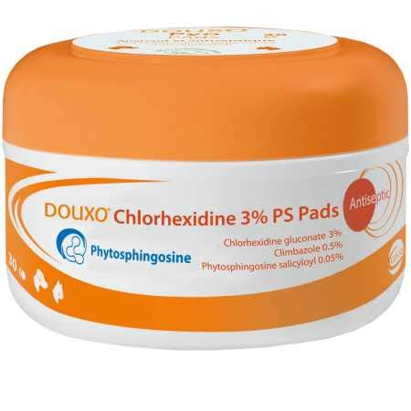 Douxo Chlorhexidine PS + Climbazole Pads 30 Pads (Douxo Chlorhexidine 3 Ps Pads For Dogs)