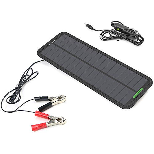 Solar Powered Car Battery Charger 12V - 3