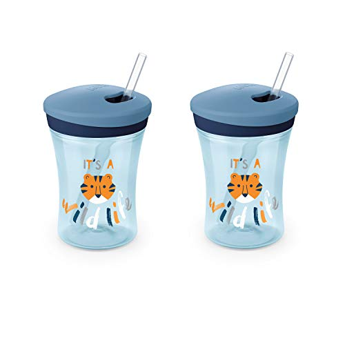 NUK Evolution Straw Cup, 8 oz, 2-Pack,