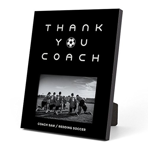 (ChalkTalkSPORTS Personalized Soccer Photo Frame | Thank You Coach Picture Frame | Black)