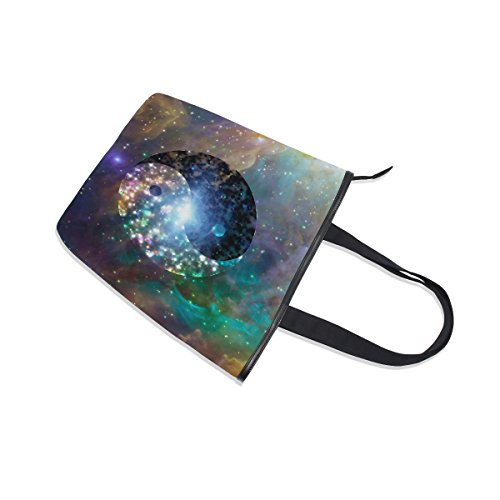 Handbag Yin Canvas Galaxy Bag MyDaily Shoulder Womens Yang Celestial Tote qIwqp50z