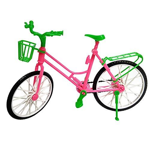 [해외]andy cool Premium Quality Finger Bicycle Miniature Toys Mini Model Plastic Bicycle Bike Doll Accessories Play House Girl Toy Kids Gifts Decors Red + Green / andy cool Premium Quality Finger Bicycle Miniature Toys Mini Model Plastic...