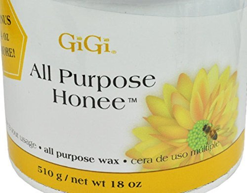 GiGi All Purpose Honee Wax Honee Wax is the atandard by which all others are judged. For use with GiGi Natural Muslin, Bleached Muslin or Cloth Epilating Strips. - Size 18 Oz / 510 g (Free Gigi Honee Strip)