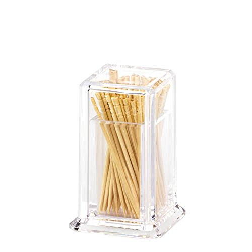 Plastic Dispenser Toothpick (Giftale Restaurant-Style Plastic Toothpick Dispenser Glass Like,Crystal Acrylic Toothpick Holder Square)