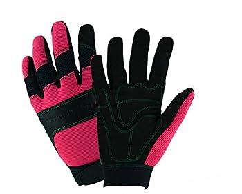 John Deere JD90015 Women's Hi-Dexterity Gloves, Women's Medium Large, Black Pink