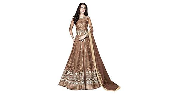 Amazon.com: Anarkali 7434 - Traje de mujer con diseño étnico ...