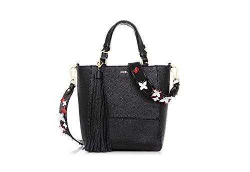 bonia-womans-black-blue-morpho-tote-bag