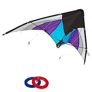 ColorBaby - Cometa acrobática Pop-Up Magic 125x72 cm - color morado & blanco (85091)