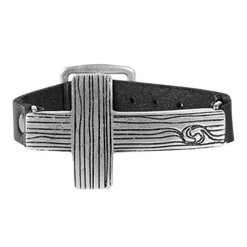 Kerusso Sideways Wood Cross Bracelet
