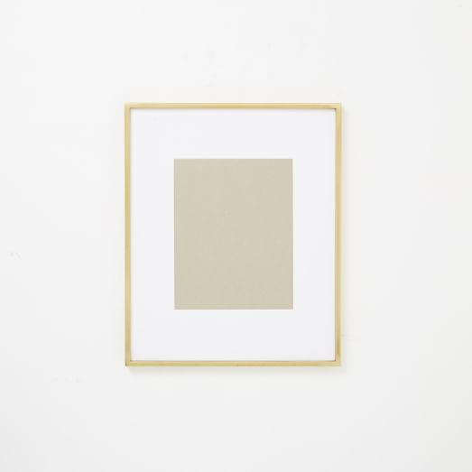 Gallery Frames - Polished Brass | west elm
