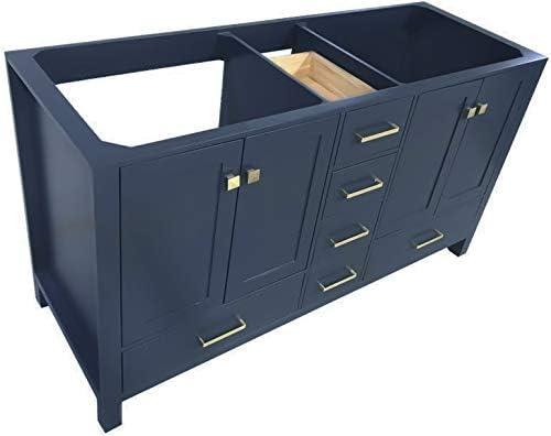 ARIEL Double Bathroom Vanity Base Cabinet