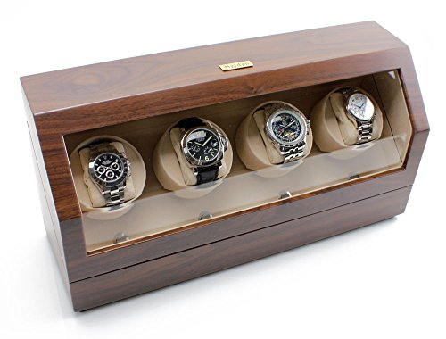 Heiden Quad Watch Winder in Walnut