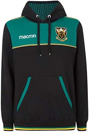 Macron Northampton Saints 2018//19 Kids Travel Cotton Hooded Rugby Sweat Black LB