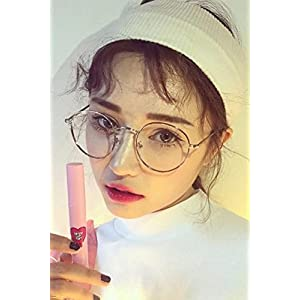 Generic tide_of Korean_style_of retro_ glasses_frame_Metal_Round_box_gold_and liberation women girls _cultural_tide_can_be_equipped_with_glass_eyes