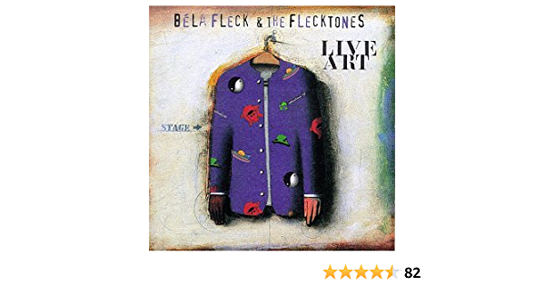 Vintage Original 90\u2019s Bela Fleck And The Flectones \u201c Live Art Album 1996 \u201c Jazz Music Distressed Band T-Shirt