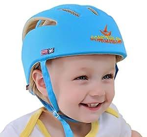 Eyourhappy Infant Baby Toddler Safety Helmet Headguard Hat Adjustable Safety Protective Harnesses Cap (Blue)