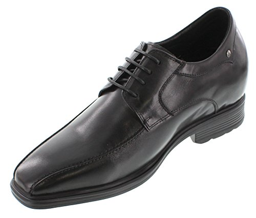 calto–G60157,6cm größer die Höhe Steigerung Aufzug Schuhe (schwarz Schnürschuh semi-square)