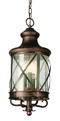 Trans Globe Lighting 5126 ROB Outdoor Chandler 25.25'' Hanging Lantern, Rubbed Oil Bronze