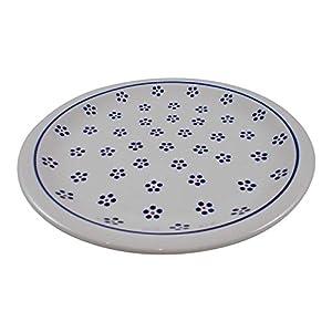 Polish Pottery Boleslawiec Plate, Dinner Plate, 27.2cm in Daisy Pattern