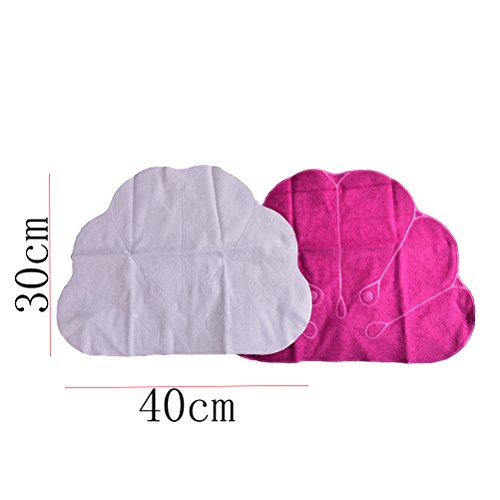 CosCosX Pack of 2 Inflatable Terry Cloth Bath Pillow with Suction Cups,Neck Support,Bathroom Spa Cushion,Head Back Pillow Mat Bathtub Relaxing,Assorted Colors by CoscosX (Image #7)