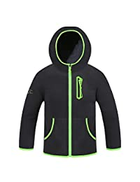 dao guan Boys Jacket Hooded Sports Polar Fleece Coat Children Warm Outwear