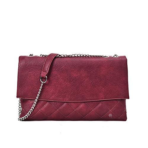 2019 Fashion Black Color Single Chain Strap Soft PU Leather Diamond Lattice Women Messenger Bags All Match - Quilt Bourke