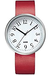Record Leather Watch Face Size: Medium, Color: Red