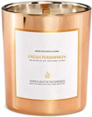 Premium Fresh Persimmon Scented Candles For Home, Sweet Scented Candle, All Natural Soy Candles Scented, 8 oz