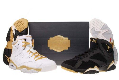 Nike Mens Air Jordan 6 Gold Medal Golden Moments Pack 535357-935, 9.5 (Nike Gold Medal compare prices)