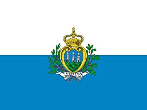 magFlags Large Flag San Marino 1862?2011   San Marino, before the 2011 standardization   landscape flag   1.35m²   14.5sqft   100x130cm   40x50inch - 100% Made in Germany - long lasting ou