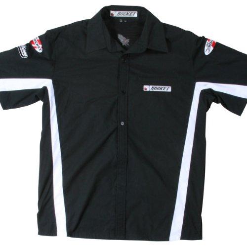 Joe Rocket Staff Black/White Button Down Shirt - Medium