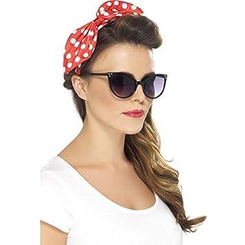Amazon.com  Red Polka Dot Pin-Up Bow on Headband Standard  Health ... cb1edd815b9
